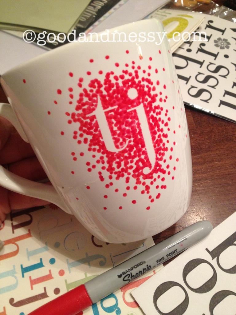 Craft ideas with sharpies - Good And Messy Diy Sharpie Mug